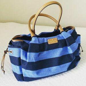Kate Spade Stevie Diaper Bag Navy Stripe